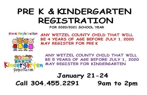 PreK/K Registration for 2020-2021