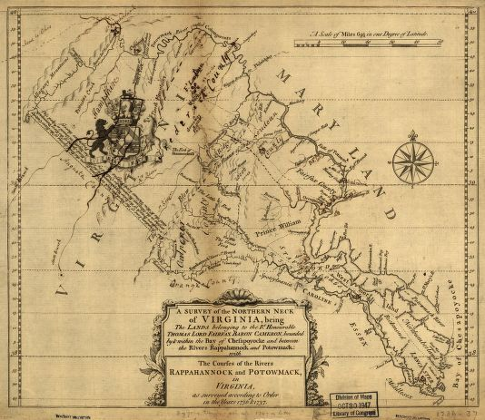 George Washington's 1747 survey of Northern Virginia.  During this expedition he referenced visiting an old field school.